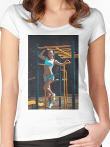 Sports woman Women's Fitted Scoop T-Shirt