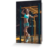 Sports woman Greeting Card
