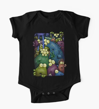 A crowd of chest dwelling aliens ... One Piece - Short Sleeve