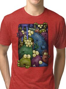 A crowd of chest dwelling aliens ... Tri-blend T-Shirt