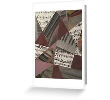 Piano Collage Greeting Card