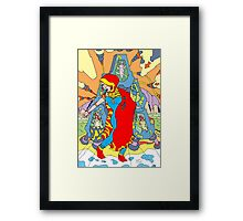 Suspension  [Pen Drawn Fantasy Figure Illustration] Framed Print