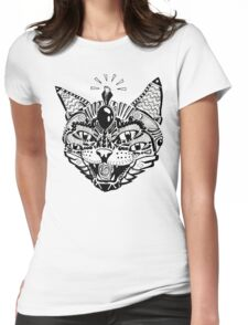 'Psychedelic Cat' Womens Fitted T-Shirt