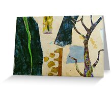 looking at the garden with scissors Greeting Card
