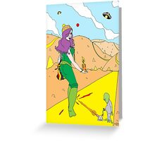 Desert Saucers  [Pen Drawn Fantasy Figure Illustration] Greeting Card