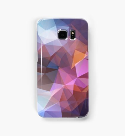 Abstract print geometrical pattern of triangles polygon. Fabric design in bright colors Samsung Galaxy Case/Skin