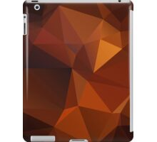 Abstract print geometrical pattern of triangles polygon. Fabric design in bright colors iPad Case/Skin