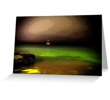 Night Fishing in Aruba Greeting Card
