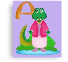 A is for Alligator Canvas Print