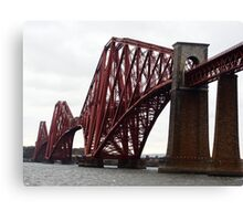Forth Rail Bridge on a cloudy day Canvas Print