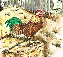 King Rooster by Teresa White