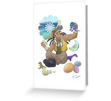 Yu-Gi-Oh! - Tyranno Hassleberry Greeting Card