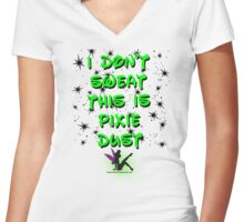 This is pixie dust Women's Fitted V-Neck T-Shirt