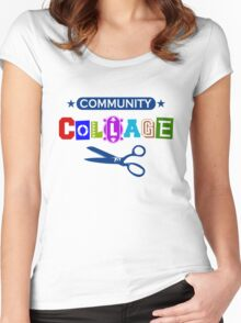 Community Collage Art College Pun Women's Fitted Scoop T-Shirt