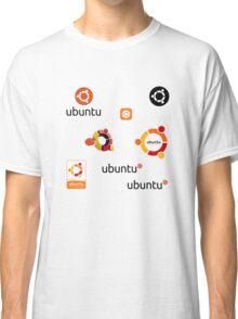 ubuntu linux stickers set Classic T-Shirt
