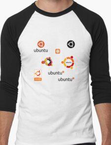 ubuntu linux stickers set Men's Baseball ¾ T-Shirt