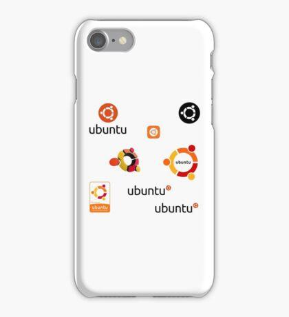 ubuntu linux stickers set iPhone Case/Skin