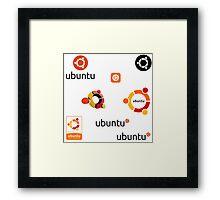 ubuntu linux stickers set Framed Print