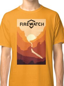 Firewatch horizion with logo Classic T-Shirt