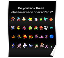 Do You Know These Classic Arcade Characters? Poster