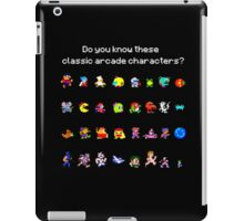 Do You Know These Classic Arcade Characters? iPad Case/Skin