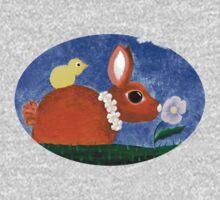 Spring Bunny Tee One Piece - Short Sleeve