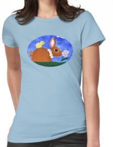 Spring Bunny Tee Womens Fitted T-Shirt