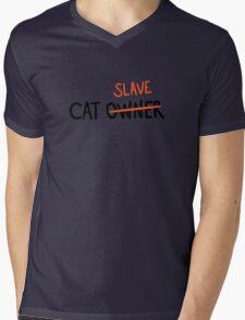 CAT SLAVE Mens V-Neck T-Shirt