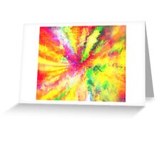 Psychedelic Abstract Watercolour Art Greeting Card