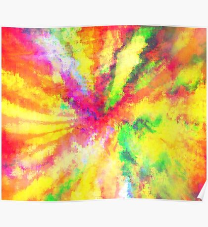 Psychedelic Abstract Watercolour Art Poster