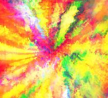 Psychedelic Abstract Watercolour Art by bexilla