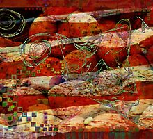 Abstract design in red by Sabine Spiesser