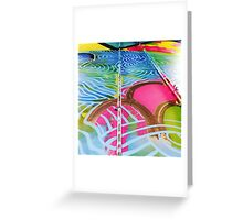 Teneo Mural Pink Scales Greeting Card
