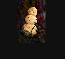 Forest Snowman Womens Fitted T-Shirt