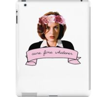 sure fine whatever t shirt and sticker iPad Case/Skin