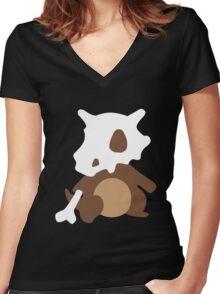 Cubone Women's Fitted V-Neck T-Shirt