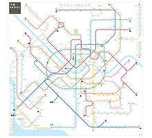 Seoul metro map Photographic Print