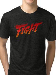 """-GEEK- Street Fighter """"Fight"""" Tri-blend T-Shirt"""