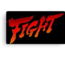 "-GEEK- Street Fighter ""Fight"" Canvas Print"