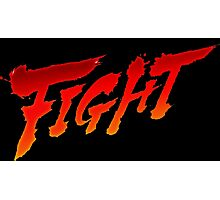 """-GEEK- Street Fighter """"Fight"""" Photographic Print"""