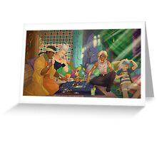 Jojo's Bizarre Adventures x Yu-Gi-Oh! - crossover Greeting Card