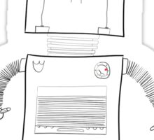 Inspection Robot drawing. Sticker