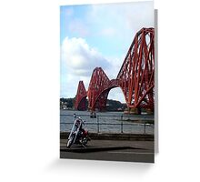 Biker bridge Greeting Card