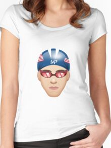 MICHAEL PHELPS EMOJI Women's Fitted Scoop T-Shirt