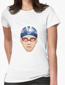 MICHAEL PHELPS EMOJI Womens Fitted T-Shirt
