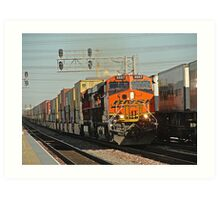 BNSF # 6667 at Commerce Art Print