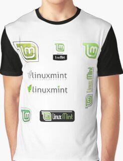 linux mint stickers set Graphic T-Shirt