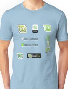 linux mint stickers set Unisex T-Shirt