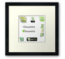 linux mint stickers set Framed Print
