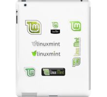linux mint stickers set iPad Case/Skin